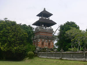 bale kulkul in the village use for call in there activities in the village the head of the banjar beat the kulkul