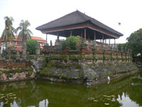 the bale kambang or floating hall at kerta gosa klungkung bali