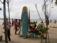 in kuta beach available for rent board surfing
