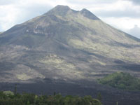 mount batur located at kintamani