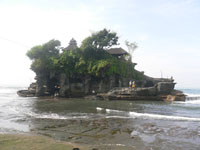tanah lot temple located at tabanan regency