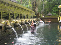 the spring water at tirta empul temple at tampak siring