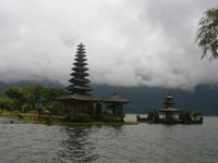ulun danu temple located at bedugul