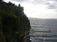 uluwatu temple located on the cliff