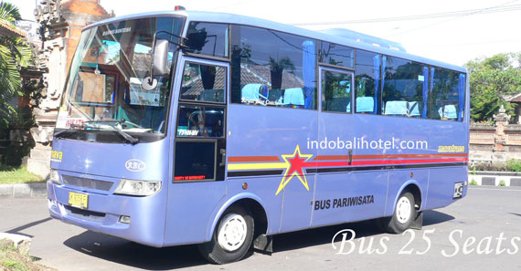 bus charter and rental bali capacity 25 seats