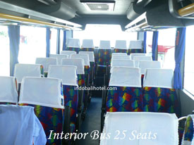 bus rental bali interior