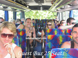australia guest at bus rental bali at bus 25 seats
