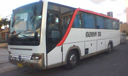 bus with maximal 35 seats