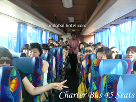 group from singapore use bus capacity 45 seats bali