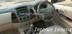 interior stir MPV innova car rental bali