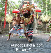 barong dance at batu bulan village