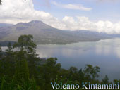 volcano and lake batur at kintamani