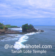 tanah lot temple located on the rock